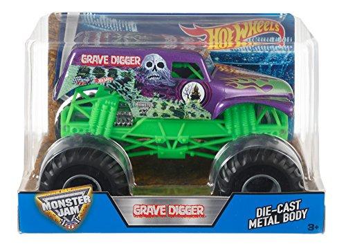 ホットウィール マテル ミニカー ホットウイール DJW94 【送料無料】Hot Wheels Monster Jam Grave Digger Truck, Purpleホットウィール マテル ミニカー ホットウイール DJW94