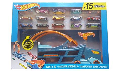 ホットウィール マテル ミニカー ホットウイール 【送料無料】Hot Wheels Stunt & Go Track Set With 15 Carsホットウィール マテル ミニカー ホットウイール