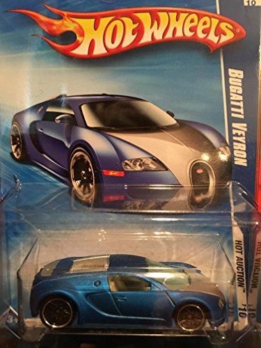 ホットウィール マテル ミニカー ホットウイール 【送料無料】Hot Wheels 2010-160 Blue Bugatti Veyron Hot Auction 1:64 Scaleホットウィール マテル ミニカー ホットウイール