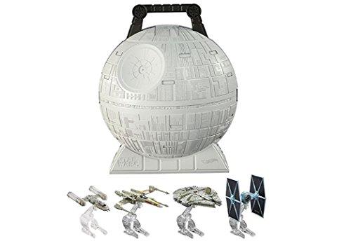 ホットウィール マテル ミニカー ホットウイール 【送料無料】Hot Wheels Star Wars Death Star Portable Play Case with 4 Starshipsホットウィール マテル ミニカー ホットウイール