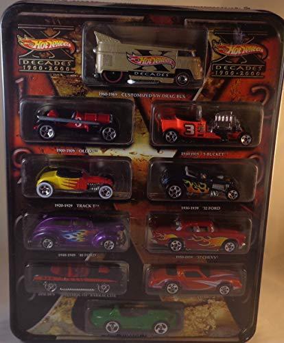 ホットウィール マテル ミニカー ホットウイール Hot Wheels Decades 1900-2000 Collectible Tin Drag Bus, '57 Chevy, Camaro, Viperホットウィール マテル ミニカー ホットウイール