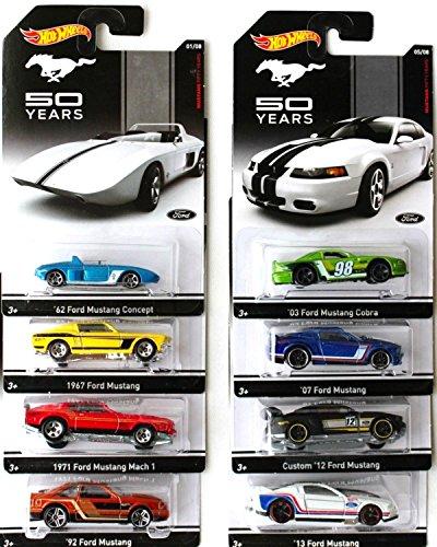 ホットウィール マテル ミニカー ホットウイール 【送料無料】Hot Wheels Mustang 50 years set of 8ホットウィール マテル ミニカー ホットウイール
