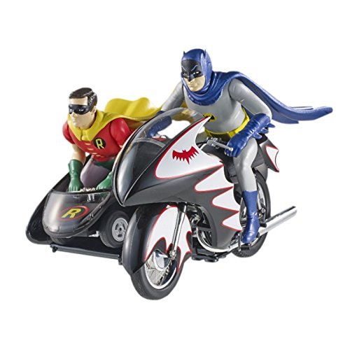 ホットウィール マテル ミニカー ホットウイール CMC85 Hot Wheels Elite Batman Classic TV Series BATCYCLE with Figures Die-cast Vehicle (1:12 Scale)ホットウィール マテル ミニカー ホットウイール CMC85