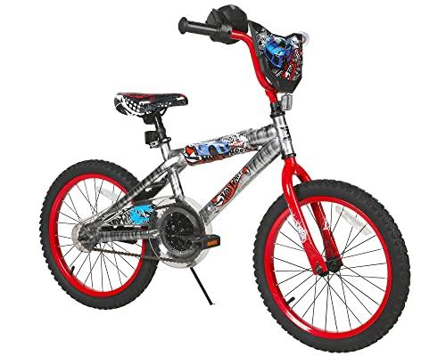 """ホットウィール マテル ミニカー ホットウイール 8094-41TJ Hot Wheels Boys Dynacraft Bike with Rev' Grip, Silver/Red, 18""""ホットウィール マテル ミニカー ホットウイール 8094-41TJ"""