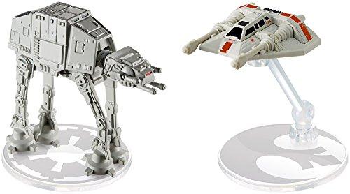 ホットウィール マテル ミニカー ホットウイール DYH43 【送料無料】Hot Wheels Star Wars AT-AT vs. Rebel Snowspeeder Vehicles, 2 Packホットウィール マテル ミニカー ホットウイール DYH43