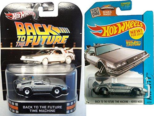 ホットウィール マテル ミニカー ホットウイール 【送料無料】Hot Wheels Back to The Future Car Set Retro Entertainment Time Machine Mainline Series Hover Mode Delorean 2015ホットウィール マテル ミニカー ホットウイール