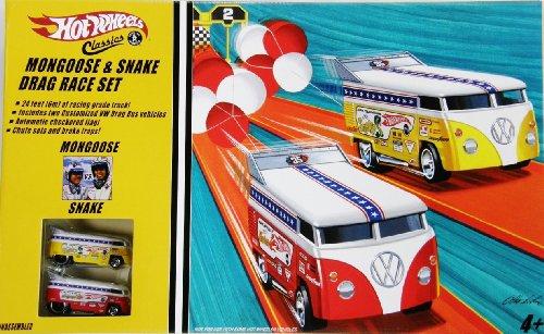 ホットウィール マテル ミニカー ホットウイール 【送料無料】Hot Wheels Snake & Mongoose Drag Race Set with 2 VW Drag Buses Limited Edition 1:64 Scale Collectible Die Cast Car Modelsホットウィール マテル ミニカー ホットウイール