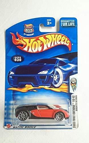 ホットウィール マテル ミニカー ホットウイール 【送料無料】Hot Wheels 2003-030 First Editions Red & Black Bugatti VEYRON 1:64 Scale Highway 35ホットウィール マテル ミニカー ホットウイール