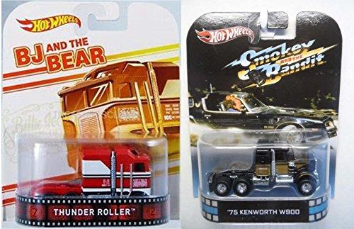 ホットウィール マテル ミニカー ホットウイール Hot Wheels Retro Entertainment Truck Collection - BJ and the Bear Thunder Roller & Smokey and the Bandit 1975 KENWORTH W900ホットウィール マテル ミニカー ホットウイール