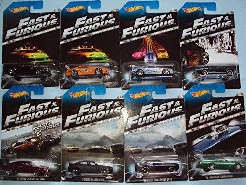 ホットウィール マテル ミニカー ホットウイール 【送料無料】2014 Hot Wheels #2 Fast & Furious Complete Set of 8 - '70 Dodge Charger, Toyota Supra, Nissan Skyline GT-R, '67 Mustang, '72 Ford Gran Torinホットウィール マテル ミニカー ホットウイール