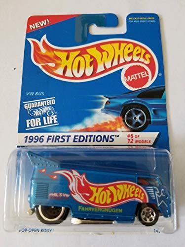 ホットウィール マテル ミニカー ホットウイール 14912 Hot Wheels - 1996 First Editions - #6 of 12 - VW (Volkswagen) Bus - Blue Body Color w/graphics - Collector #372ホットウィール マテル ミニカー ホットウイール 14912