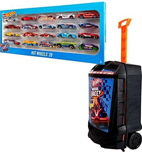 ホットウィール マテル ミニカー ホットウイール 【送料無料】Bundle Includes 2 Items - Hot Wheels 20 Car Gift Pack (Styles May Vary) and Hot Wheels 100-Car, Rolling Storage Case with Retractable Handleホットウィール マテル ミニカー ホットウイール