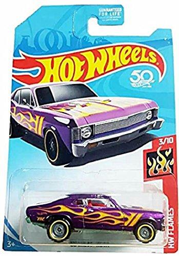 ホットウィール マテル ミニカー ホットウイール 【送料無料】Hot Wheels 2018 HW Flames '68 Chevy Nova, Purple (Treasure Hunt)ホットウィール マテル ミニカー ホットウイール