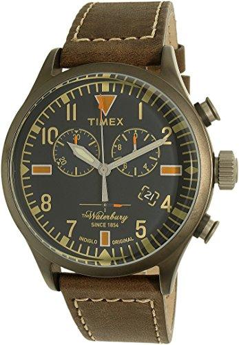 タイメックス 腕時計 メンズ TW2P84100 Timex Men's Waterbury TW2P84100 Silver Leather Quartz Watchタイメックス 腕時計 メンズ TW2P84100