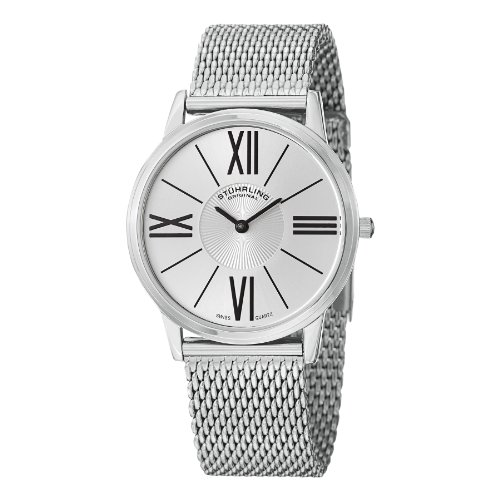 ストゥーリングオリジナル 腕時計 メンズ 533M.33112 【送料無料】Stuhrling Original Men's 533M.33112 Classic Ascot Solei Elite Swiss Quartz Mesh Bracelet Silver Dial Watchストゥーリングオリジナル 腕時計 メンズ 533M.33112