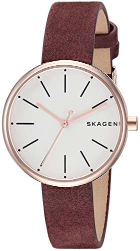 スカーゲン 腕時計 レディース SKW2679 【送料無料】Skagen Women's CNY Stainless Steel Analog-Quartz Watch with Leather Calfskin Strap, red, 12 (Model: SKW2679)スカーゲン 腕時計 レディース SKW2679