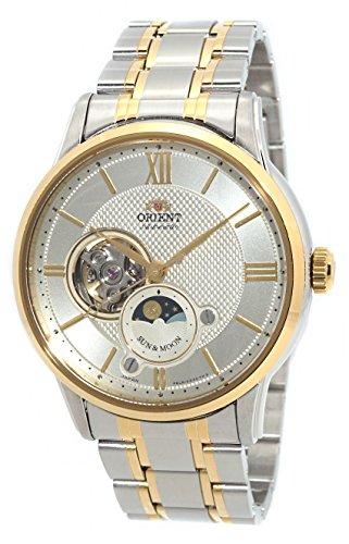 オリエント 腕時計 メンズ 【送料無料】ORIENT 'Sun & Moon' Open Heart Automatic 2 Tone Gold Watch AS0001Sオリエント 腕時計 メンズ