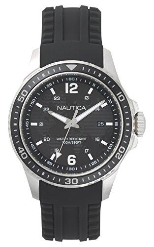 ノーティカ 腕時計 メンズ NAPFRB001 【送料無料】Nautica Men's FREEBOARD Stainless Steel Quartz Sport Watch with Silicone Strap, Black, 22 (Model: NAPFRB001)ノーティカ 腕時計 メンズ NAPFRB001