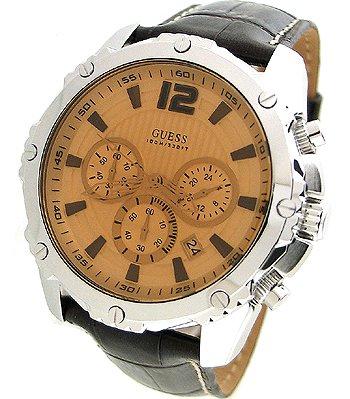 ゲス GUESS 腕時計 メンズ U0166G2 Guess Men's U0166G2 Brown Leather Quartz Watch with Brown Dialゲス GUESS 腕時計 メンズ U0166G2