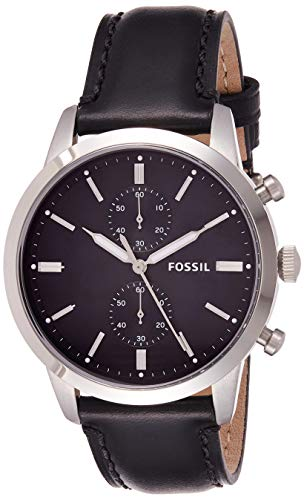 フォッシル 腕時計 メンズ FS5396 Fossil Men's Townsman Stainless Steel Quartz Watch with Leather Calfskin Strap, Black, 22 (Model: FS5396)フォッシル 腕時計 メンズ FS5396