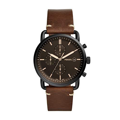 フォッシル 腕時計 メンズ FS5403 【送料無料】Fossil Men's The Commuter Quartz Chronograph Leather Watch, Color: Silver, Brown, 22 (Model: FS5403)フォッシル 腕時計 メンズ FS5403