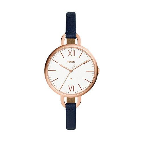 フォッシル 腕時計 レディース ES4355 【送料無料】Fossil Women's Annette Stainless Steel Quartz Watch with Leather Calfskin Strap, Blue, 7 (Model: ES4355)フォッシル 腕時計 レディース ES4355