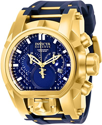 インヴィクタ インビクタ ボルト 腕時計 メンズ 【送料無料】Invicta Men's Reserve Stainless Steel Quartz Watch with Silicone Strap, Blue, 34 (Model: 25608)インヴィクタ インビクタ ボルト 腕時計 メンズ