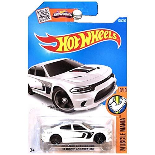 ホットウィール マテル ミニカー ホットウイール 【送料無料】Hot Wheels 2016 Muscle Mania '15 Dodge Charger SRT Hellcat Whiteホットウィール マテル ミニカー ホットウイール