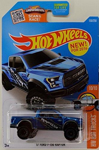 ホットウィール マテル ミニカー ホットウイール 【送料無料】Hot Wheels 2016 HW Trucks '17 Ford F-150 Raptor 150/250, Blueホットウィール マテル ミニカー ホットウイール
