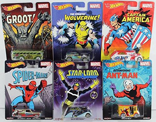 ホットウィール マテル ミニカー ホットウイール Hot Wheels Pop Culture Marvel Series Set of 6 - Groot, Captain America, Wolverine, Spider-Man, Ant-Man & Star-Lordホットウィール マテル ミニカー ホットウイール