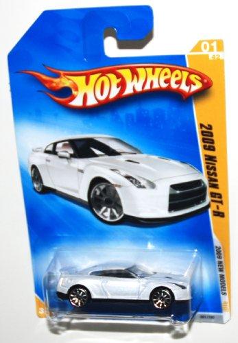 ホットウィール マテル ミニカー ホットウイール 【送料無料】Hot Wheels 2009-001 New Models 1 of 42 Nissan GT-R White 1:64 Scaleホットウィール マテル ミニカー ホットウイール