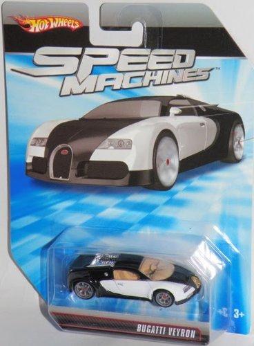 ホットウィール マテル ミニカー ホットウイール Hot Wheels Speed Machines Bugatti Veyron Black & White - 1:64 Scale Collectible Die Cast Carホットウィール マテル ミニカー ホットウイール