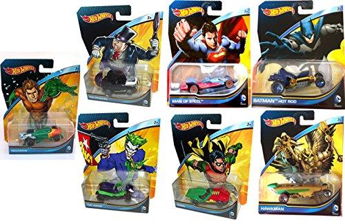 ホットウィール マテル ミニカー ホットウイール DC Universe 7 Car Hot Wheels Set Batman Vs Superman 2015 robin, penguin, aquaman, joker, hawkmanホットウィール マテル ミニカー ホットウイール