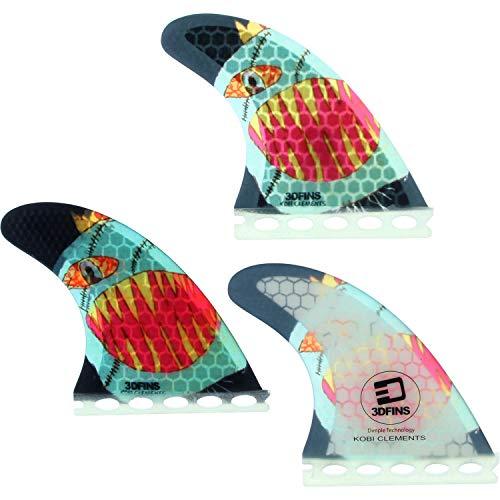 サーフィン フィン マリンスポーツ 3D Fins Kobi Clements Monsta Futures Fin Systemサーフィン フィン マリンスポーツ