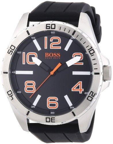 ヒューゴボス 高級腕時計 メンズ 1512943 【送料無料】Hugo Boss Orange Black Dial SS Rubber Multi Quartz Men's Watch 1512943ヒューゴボス 高級腕時計 メンズ 1512943