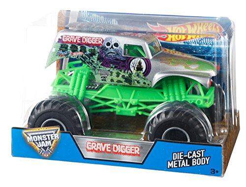 【送料無料】Hot Wheels ホットウィール モンスタージャム 1:24 GRAVE DIGGER(Grim) ダイキャスト メタルボディ DJW86