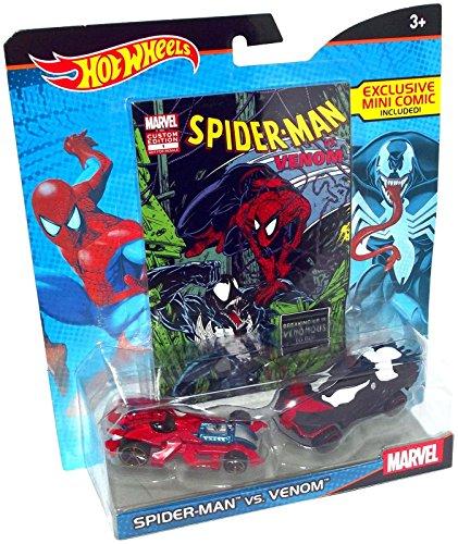 ホットウィール マテル ミニカー ホットウイール Hot Wheels Marvel Spider-Man vs. Venom Character Car 2-Pack with Comicホットウィール マテル ミニカー ホットウイール
