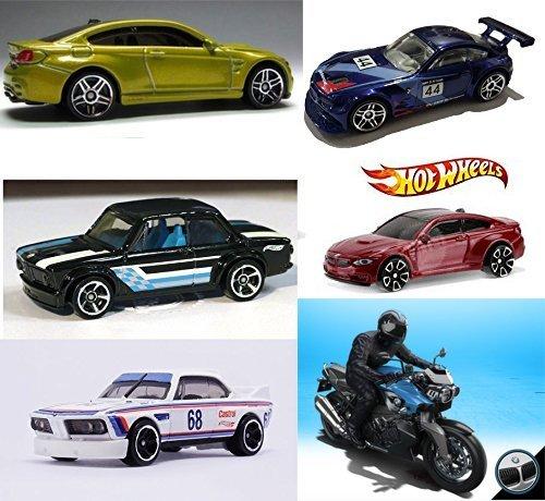 ホットウィール マテル ミニカー ホットウイール BMW 2016 Hot Wheels Collection + M4 Series Gold & Red / Z4 / 2002 /K 1300 R Motorcycle Blue / '73 3.0 Race 6 Car Setホットウィール マテル ミニカー ホットウイール