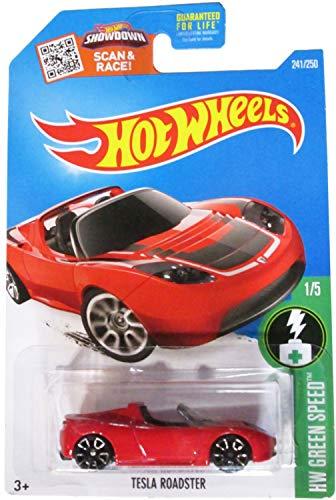 ホットウィール マテル ミニカー ホットウイール 2016 Hot Wheels Tesla Roadster in Protective Case Red A Case HW Green Speed by Hot Wheelsホットウィール マテル ミニカー ホットウイール