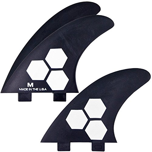 サーフィン フィン マリンスポーツ FSET-2T-GF-M-3CBN Channel Islands Surfboards Fiberglass Reinforced Polymer (Frp) Fin Set - 3 Fins - Fcs Base, Black, Mediumサーフィン フィン マリンスポーツ FSET-2T-GF-M-3CBN