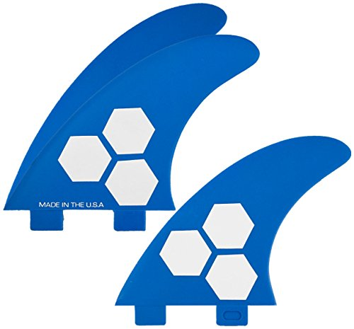 サーフィン フィン マリンスポーツ FSET-2T-GF-M-3BLU Channel Islands Surfboards Fiberglass Reinforced Polymer (Frp) Fin Set - 3 Fins - FCS Base, Blue, Mediumサーフィン フィン マリンスポーツ FSET-2T-GF-M-3BLU