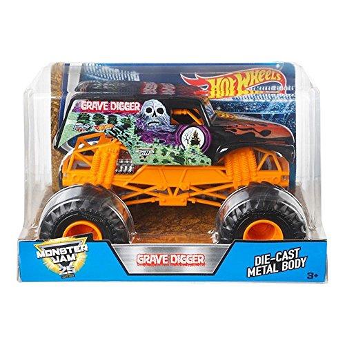ホットウィール マテル ミニカー ホットウイール DWN96 【送料無料】Hot Wheels Monster Jam Grave Digger Vehicle, Orangeホットウィール マテル ミニカー ホットウイール DWN96