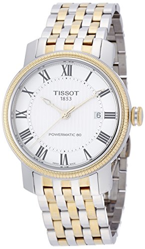 ティソ 腕時計 メンズ T0974072203300 【送料無料】Tissot T-Classic Bridgeport Powermatic 80 Silver Dial Two-tone Mens Watch T0974072203300ティソ 腕時計 メンズ T0974072203300
