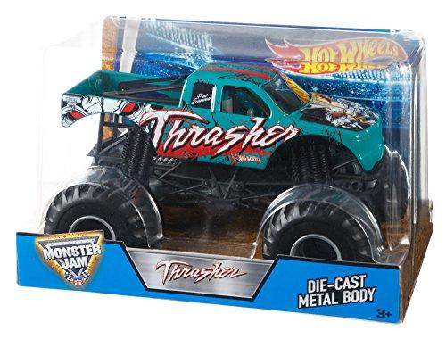 ホットウィール マテル ミニカー ホットウイール DJW84 【送料無料】Hot Wheels Monster Jam 1:24 Thrasher (Green)ホットウィール マテル ミニカー ホットウイール DJW84