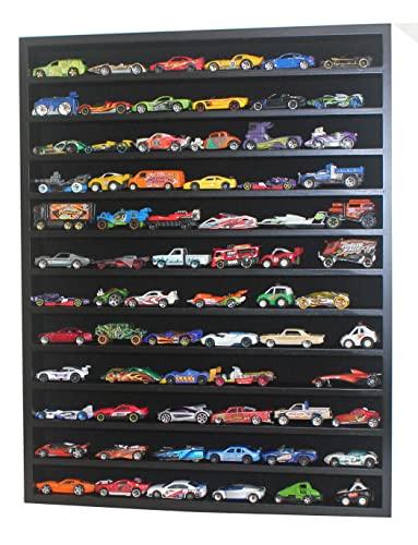 ホットウィール マテル ミニカー ホットウイール 1:64 Scale Toy Cars Wheels Matchbox Model Cars Display Case Cabinet - NO Door (Black) Hot-HW10-BLホットウィール マテル ミニカー ホットウイール