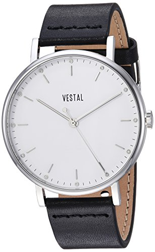 ベスタル ヴェスタル 腕時計 メンズ SP42L01.BK Vestal Sophisticate Stainless Steel Swiss-Quartz Watch with Leather Strap, Black, 20 (Model: SP42L01.BK)ベスタル ヴェスタル 腕時計 メンズ SP42L01.BK