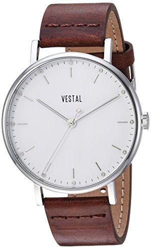 ベスタル ヴェスタル 腕時計 メンズ SP42L01.BR Vestal Sophisticate Stainless Steel Swiss-Quartz Watch with Leather Strap, Brown, 20 (Model: SP42L01.BR)ベスタル ヴェスタル 腕時計 メンズ SP42L01.BR