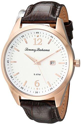 トミーバハマ 腕時計 メンズ アメカジ アメリカ TB00015-03 Tommy Bahama Men's Quartz Stainless Steel and Leather Casual Watch, Color:Brown (Model: TB00015-03)トミーバハマ 腕時計 メンズ アメカジ アメリカ TB00015-03