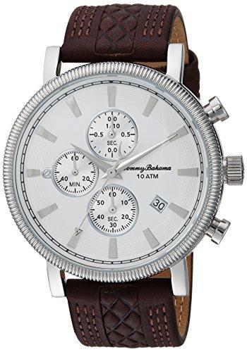 トミーバハマ 腕時計 メンズ アメカジ アメリカ TB00003-03 Tommy Bahama Men's Stainless Steel Quartz Watch with Leather Strap, Brown, 21.6 (Model: TB00003-03)トミーバハマ 腕時計 メンズ アメカジ アメリカ TB00003-03