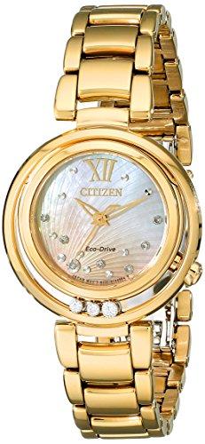 シチズン 逆輸入 海外モデル 海外限定 アメリカ直輸入 EM0322-53Y Citizen Women's Eco-Drive Watch with Diamond Accents, EM0322-53Yシチズン 逆輸入 海外モデル 海外限定 アメリカ直輸入 EM0322-53Y